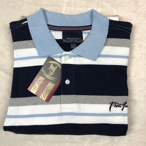 Phat Farm Men's Polo Shirt Striped Top Size 6XL